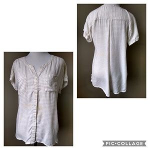 Eddie Bauer Button Down Cream Shirt Ladies Size XS